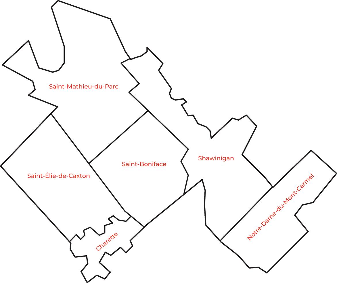 Cartes des territoires desservies